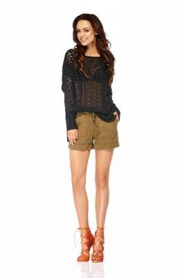 Ażurowy sweterek LSG101 czarny