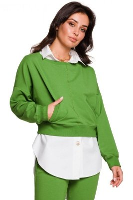 B125 Krótka bluza - limonkowa