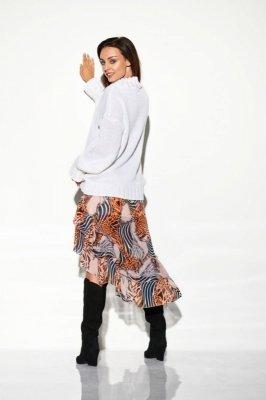 Spódnica z jedwabiem i krótszym przodem LG506 druk 11