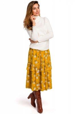 S179 Spódnica midi w kwiaty - model 1