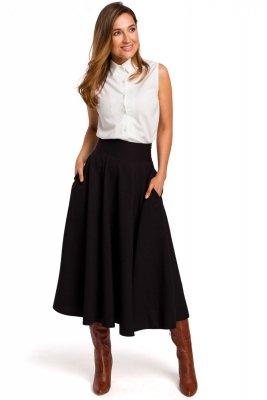 S196 Spódnica rozkloszowana - czarna
