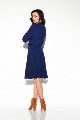 Sukienka wiązana przy szyi kolor L310 granatowy