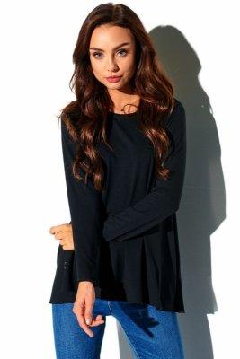 Luźna dłuższa basicowa bluzka LN111 czarny