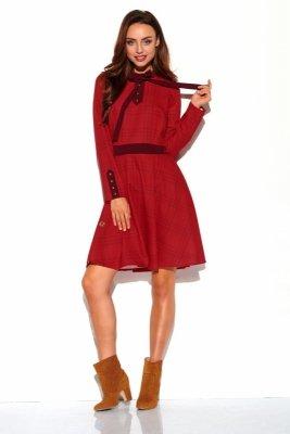 Sukienka kratka z kokardą L320 druk 5