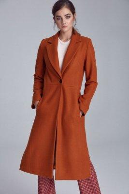 Płaszcz jednorzędowy - miodowy - PL07