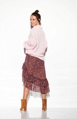 1 Sweter  LS265 pudrowy róż PROMO