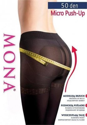 1 Rajstopy MONA MICRO PUSH-UP 50 PROMO