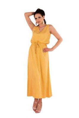 Anara Mustard D144 sukienka