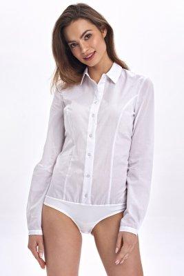 Klasyczna koszula body - biały - CK07