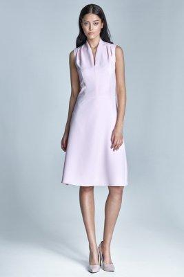 Jasnoróżowa sukienka damska - S74