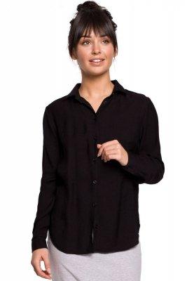 B151 Koszula z pagonami - czarna