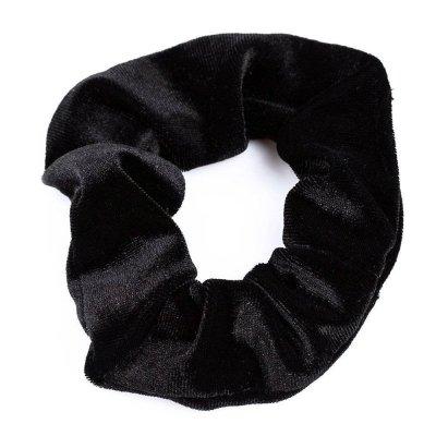 Gumka do włosów aksamitka czarny
