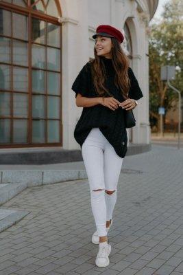 Kamizelka swetrowa z golfem LS312 czarny