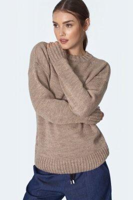Klasyczny beżowy sweter - SW08