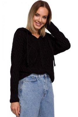 M540 Sweter z kapturem - czarny