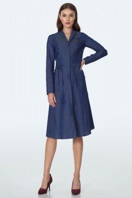 Jeansowa sukienka midi - S152
