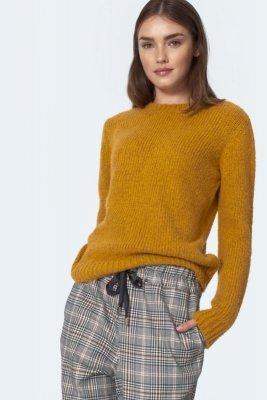 Klasyczny musztardowy sweter - SW07