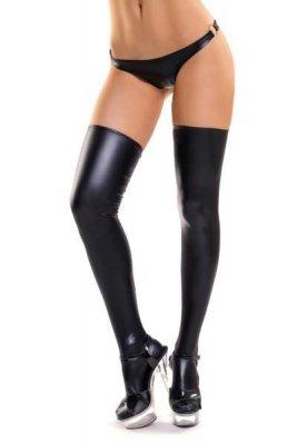 Shiny Wetlook stockings straight edge LOTIS pończochy