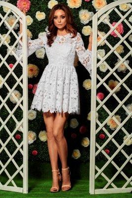 1 Sukienka z koronki L262 ecru  PROMO