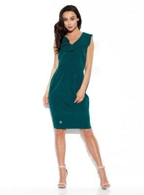 1 Sukienka L337 ciemna zieleń PROMO