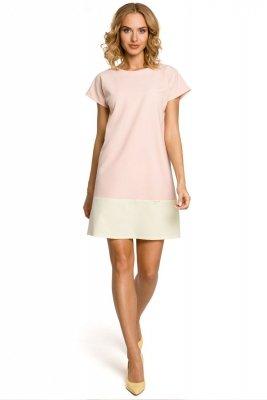 M100 Sukienka mini tunika - pudrowa