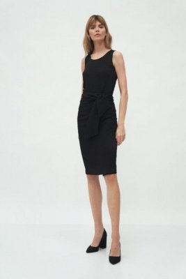 Czarna spódnica z wiązaniem - SP59