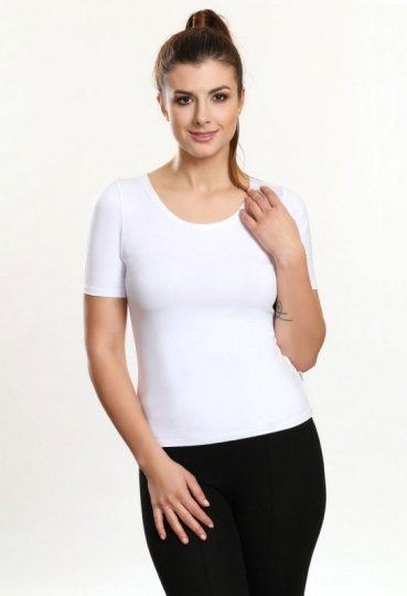 6f6aeee2e5c815 Rose bluzka biały - Bluzki krótki rękaw - Bluzki damskie - Odzież ...
