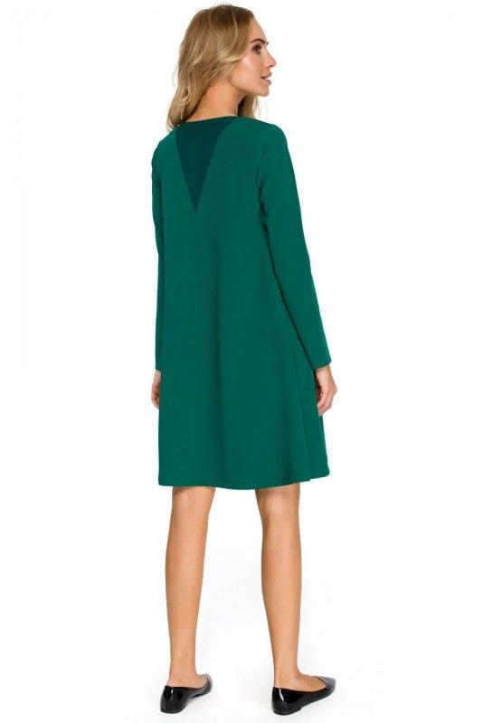 S137 Sukienka rozkloszowana - zielona