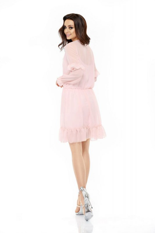 1 Sukienka L240 pudrowy róż PROMO