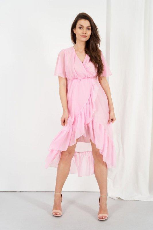 Sukienka L330 pudrowy róż
