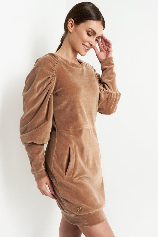 Sukienka L408 kamel