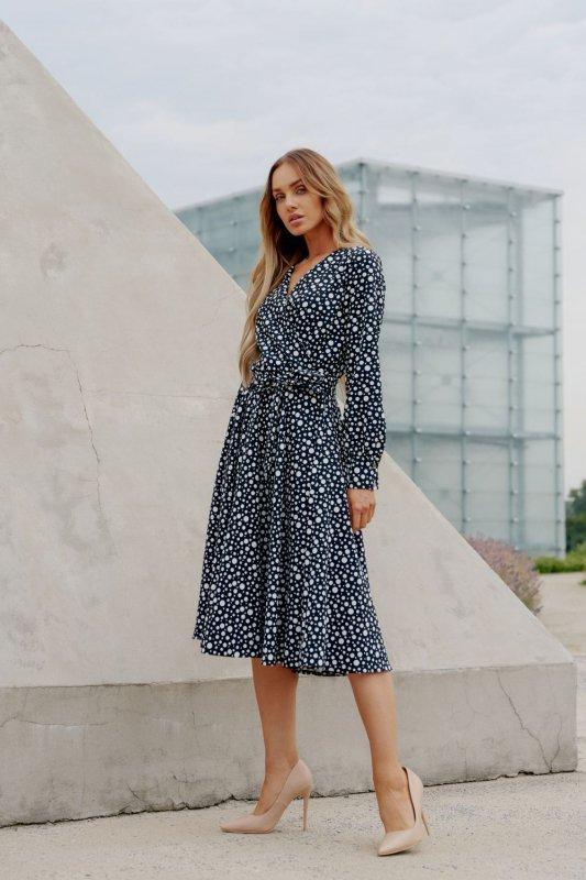 Sukienka L392B kropki