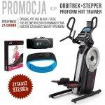 Orbitrek+Stepper HIIT Trainer + członkostwo + pas + opaska