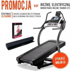 Bieżnia Elektryczna Incline Trainer X7i + członkostwo + mata + zegarek