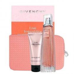 Givenchy Live Irresistible Zestaw - EDP 75 ml + BL 75 ml + kosmetyczka