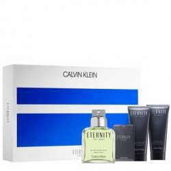 Calvin Klein Eternity For Men Zestaw - EDT 100 ml + EDT 20 ml + ASB 100 ml + SG 100 ml