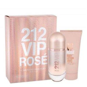 Carolina Herrera 212 VIP Rose Zestaw - EDP 80 ml + BL 100 ml