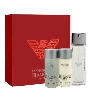 Emporio Armani Diamonds for Men Zestaw = EDT 75 ml + SG 50 ml + ASB 50 ml