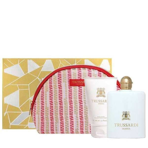 Trussardi Donna Set - Eau de Parfum 100 ml + Body Lotion 100 ml + Pouch