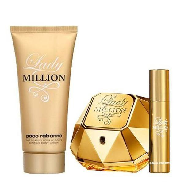 Paco Rabanne Lady Million Set - Eau de Parfum 80 ml + mini Eau de Parfum 10 ml + Body Lotion 100 ml
