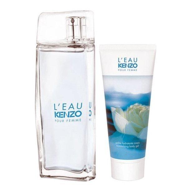 Kenzo L'Eau Kenzo pour Femme Set - Eau de Toilette 100 ml + Moisturising Body Gel 75 ml