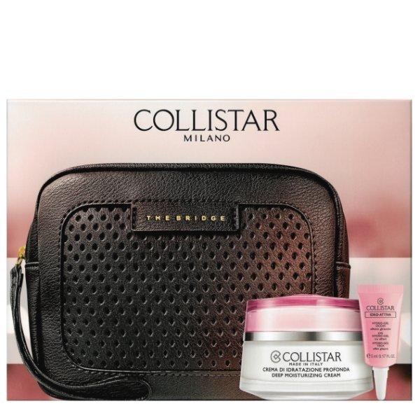 Collistar Idro Attiva Set - Deep Moisturizing Cream 50 ml + Eye Hydro Gel 5 ml + The Bridge pouch
