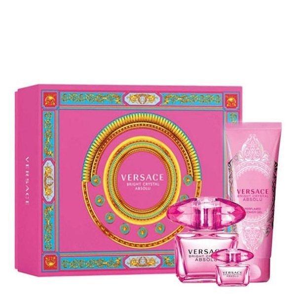Versace Bright Crystal Absolu Set - Eau de Parfum 90 ml + Eau de Parfum 5 ml + Perfumed Shower Gel 150 ml