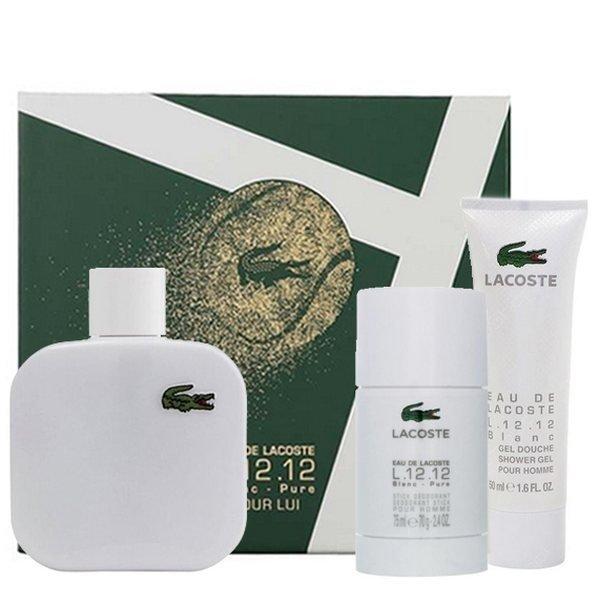 Lacoste Eau de Lacoste L.12.12 Blanc Set - Eau de Toilette 100 ml + Shower Gel 50 ml + Deodorant Stick 75 ml