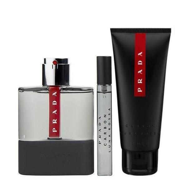 Prada Luna Rossa Carbon Set - Eau de Toilette 100 ml + Eau de Toilette 10 ml + Shower Gel 100 ml