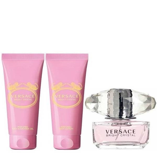 Versace Bright Crystal Set - Eau de Toilette 50 ml + Body Lotion 50 ml + Shower Gel 50 ml
