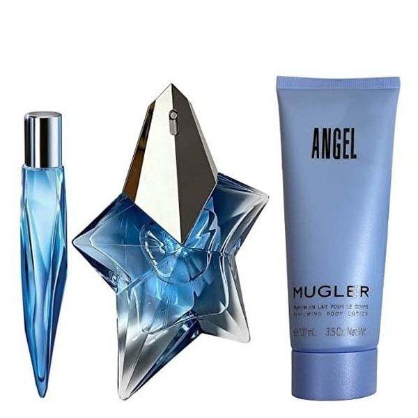 Mugler Angel Set - Eau de Parfum 50 ml + Eau de Parfum 10 ml + Perfumed Body Lotion 100 ml