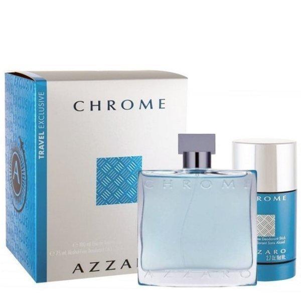 Azzaro Chrome Set - Eau de Toilette 100 ml + Deodorant Stick 75 ml