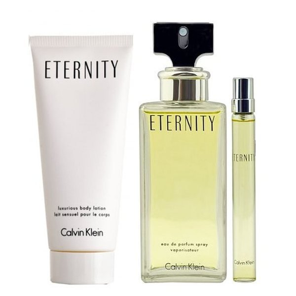 Calvin Klein Eternity Set - Eau de Parfum 100 ml + rollerball EDP 10 ml + Body Lotion 100 ml