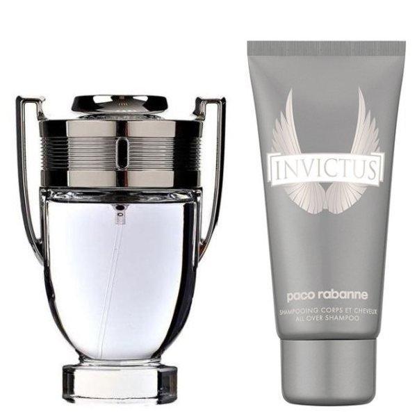 Paco Rabanne Invictus Set - Eau de Toilette 100 ml + Shower Gel 100 ml